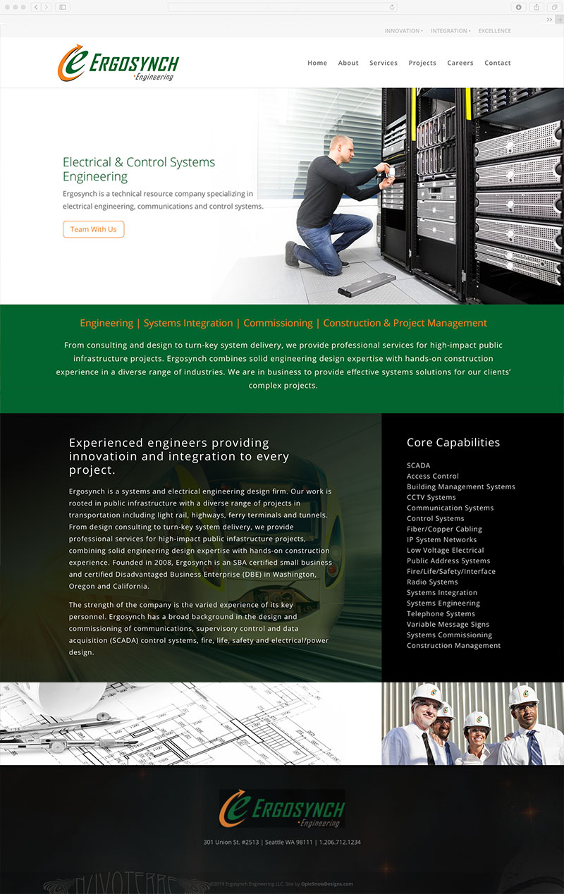 Ercosynch website design and developement