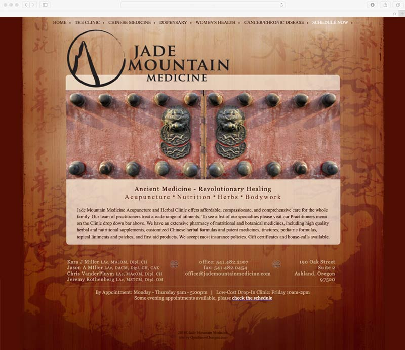 Jade Mountain Medicne Website