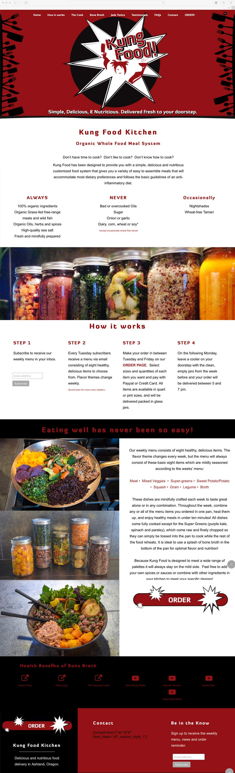 Kung Food website design