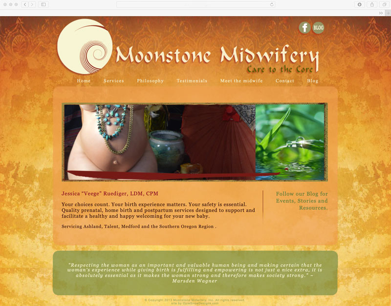 Moonstone Midwifery Website